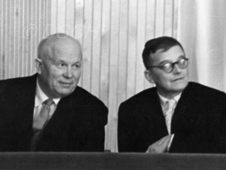 <p>With N.S.Khrushchev in a box of the Kremlin Theatr…</p>