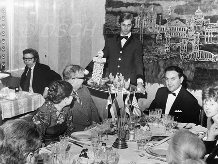 <p>During the farewell dinner on the 'Mikhail Lermont…</p>