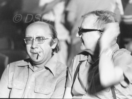 <p>With Gennadi Rozhdestvensky during a rehearsal of …</p>