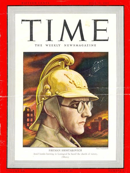 <p>Cover of Time magazine of 20 July 1942 with a comp…</p>