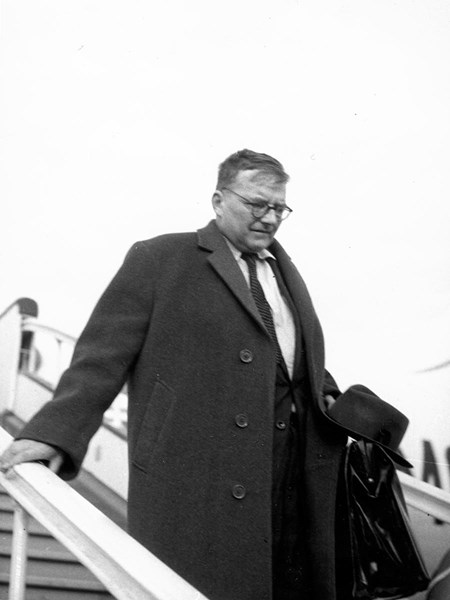 <p>At Budapest airport on 5 October 1961.</p>