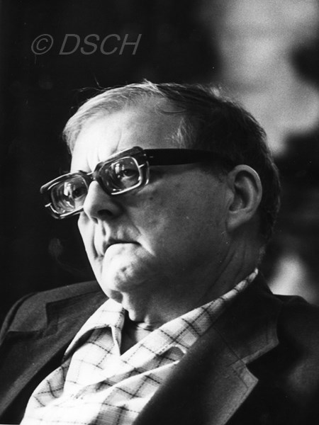 <p>Shostakovich in his office. June 1975.<br />Photo by V. …</p>