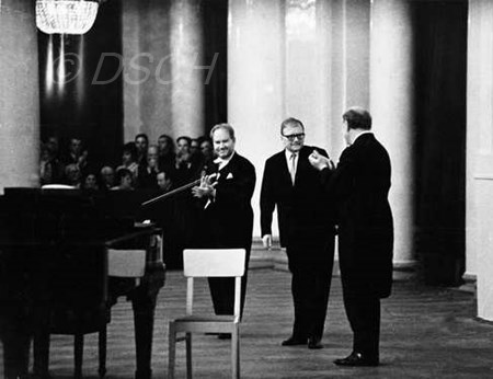 <p>On the stage of the Grand Hall of the Leningrad Ph…</p>