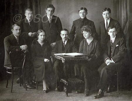 <p>M. Steinberg (sitting in the center) and his stude…</p>
